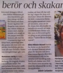 Recension i Folkbladet  den 4 september