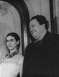 Frida med maken Diego Rivera