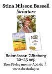 Bokmässan i Göteborg kl. 11.00 i monterA02:65b
