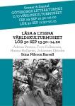 Världskulturmuseet, Scener & Samtal/Läsa & Lyssna den 30september