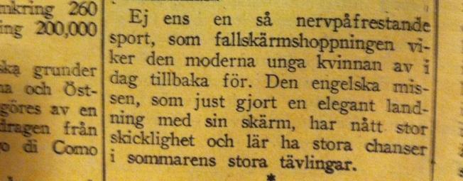 Flygmiss-Östergötlands Dagblad 1936