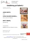 Vernissage GalleriLi Östergötland- Glas & Textil & Kroki,Litteratur